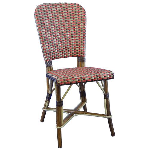 chaise de restaurant classique / en rotin / en bois courbé / dorée