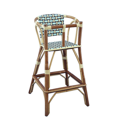 chaise haute standard / en rotin / pour restaurant