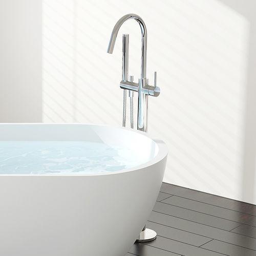 mitigeur pour vasque / pour baignoire / au sol / en laiton chromé