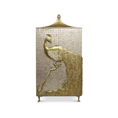 armoire design nouveau baroque / en bois / à porte battante