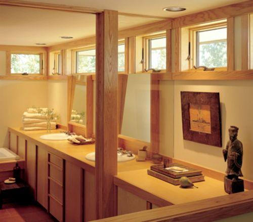fenêtre basculante / en bois / à double vitrage / écolabel Energy Star