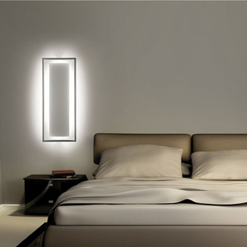 applique murale design original / en acier / à LED / rectangulaire