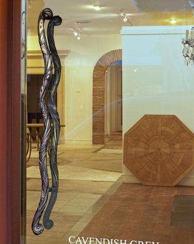 poignée de tirage pour porte en verre / en bronze / classique