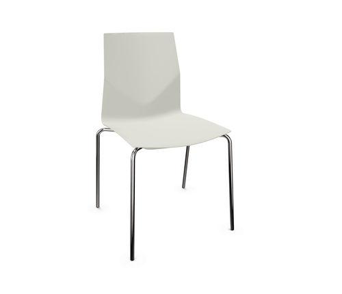 chaise contemporaine / tapissée / avec accoudoirs / recyclable