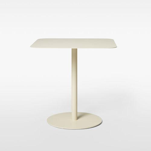 table à manger contemporaine / en métal / en stratifié / en marbre