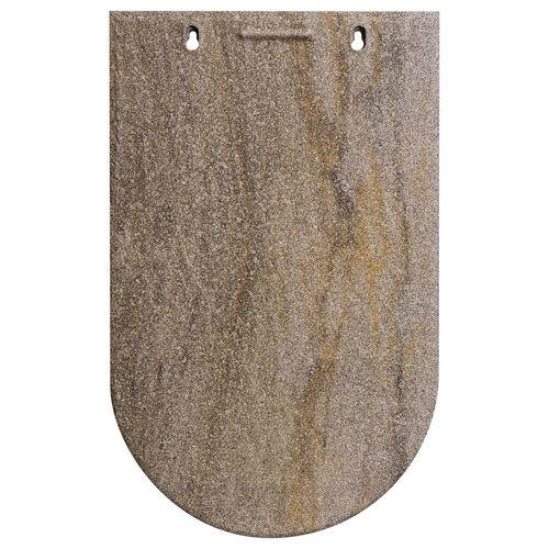 tuile plate / en terre cuite / grise