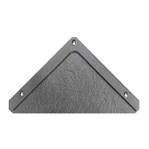 tuile plate / en terre cuite / grise / petit moule