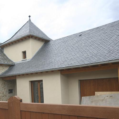 Couverture de toit en ardoise - Pizarras J. Bernardos - aspect tuile