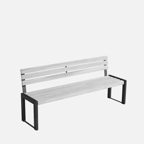 banc public / contemporain / en acier galvanisé / en acier peint