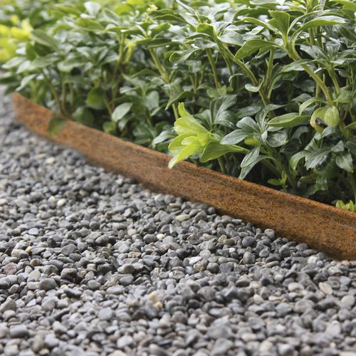 bordure de jardin / en acier COR-TEN® / en acier galvanisé / linéaire