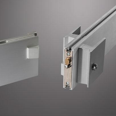 serrure électronique / pour porte en verre / à code / avec poignée