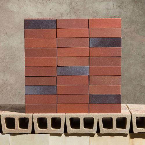 brique surcuite / creuse / pour façade / rouge