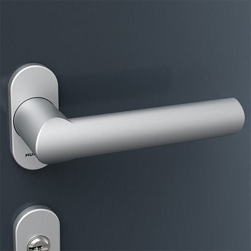 poignée de porte / pour fenêtre / en aluminium / contemporaine