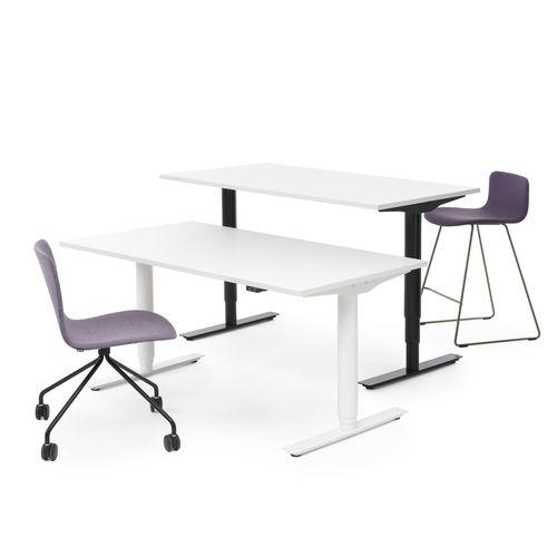 bureau en bois / en acier laqué / contemporain / professionnel