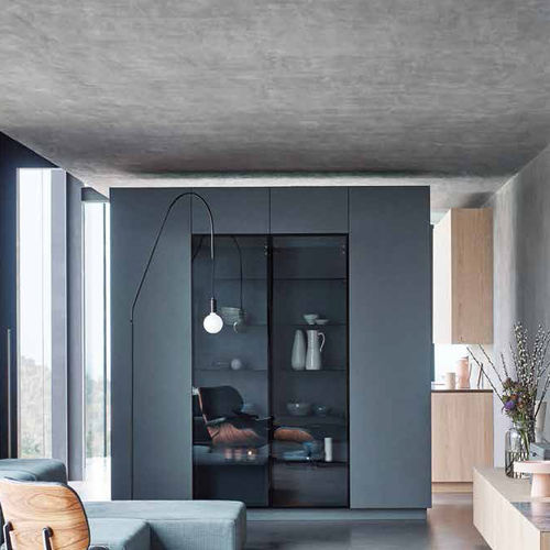vitrine armoire contemporaine