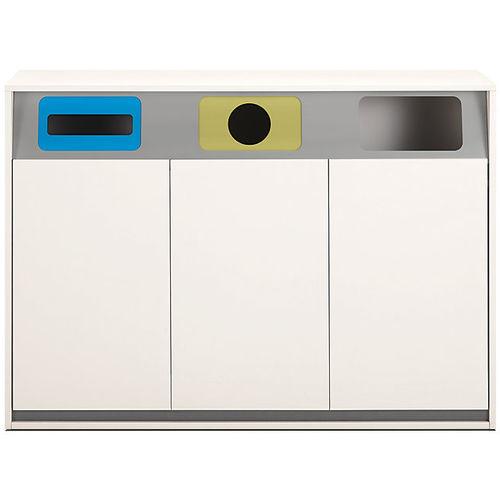 poubelle en métal / de tri sélectif / pour bureau