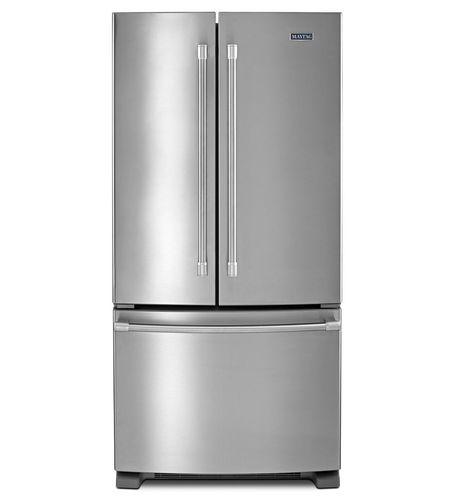réfrigérateur congélateur avec congélateur en bas / résidentiel / américain / en inox