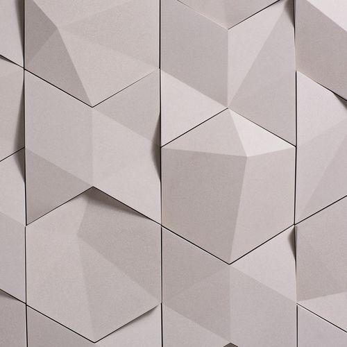 carrelage 3D / d'intérieur / mural / en béton