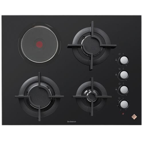 table de cuisson à gaz / en fonte / mixte / 4 foyers