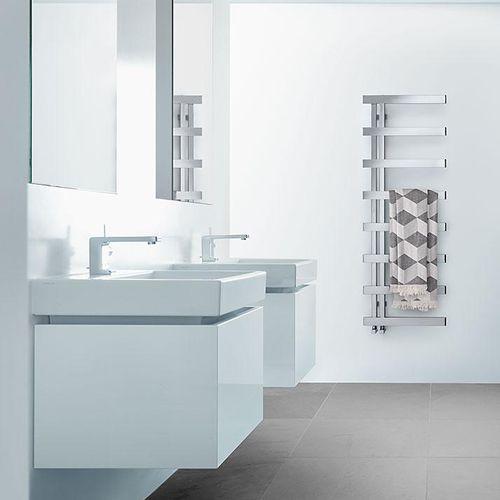 sèche-serviettes électrique / à eau chaude / en inox / chromé
