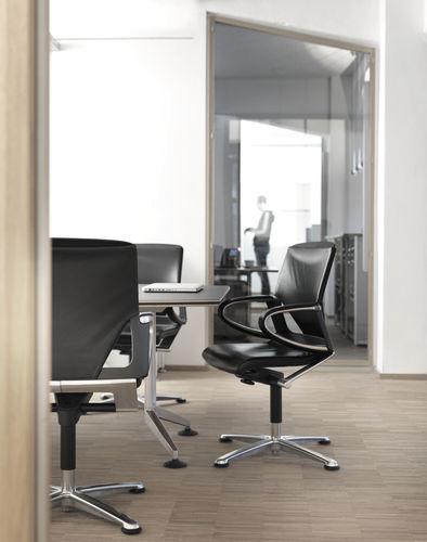 fauteuil de bureau contemporain / en tissu / en cuir / à roulettes