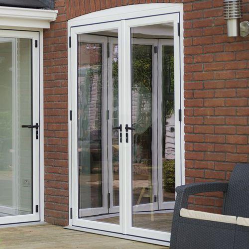 porte-fenêtre battante / en aluminium / à double vitrage / à coupure thermique