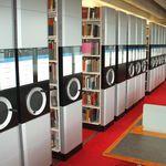 rayonnage mobile pour bibliothèque / pour archives / mécanique / manuel