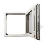 fenêtre battante / oscillo-battante / en aluminium / à double vitrage