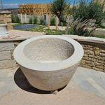 jardinière en pierre calcaire
