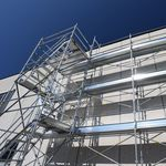 échafaudage en acier galvanisé / grande hauteur