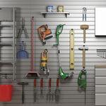 système de rangement mural / contemporain / en aluminium / pour garage