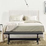 tête de lit pour lit double / contemporaine / en tissu / tapissée