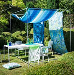 tissu d'ameublement / pour rideaux / pour protection solaire / à motif