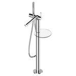 mitigeur pour baignoire / au sol / en métal chromé / 1 trou