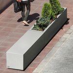 jardinière en béton / rectangulaire / modulable / contemporaine