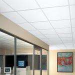 faux-plafond en fibre minérale / en dalles / acoustique / ignifuge