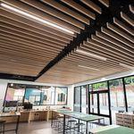 faux-plafond en métal / en lames / acoustique / perforé