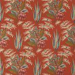 tissu d'ameublement / pour rideaux / à fleurs / en coton