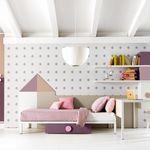 chambre d'enfant blanche / rose / en bois / pour fille