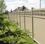 clôture de jardin / à panneaux / en PVC