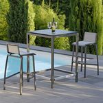 chaise de bar contemporaine / empilable / en Textilene® / aluminium