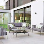 canapé classique / d'extérieur / en tissu / aluminium