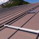 toiture en zinc-titane / colorée / à joint debout / nervurée