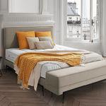 tête de lit pour lit double / contemporaine / en tissu / en cuir