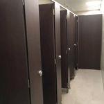 cabine sanitaire pour toilettes pour sanitaire public / en bois