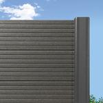 clôture de jardin / à lames / en bois composite / de haute sécurité