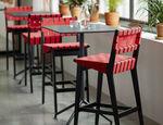 chaise de bar contemporaine / tapissée / en coton / en Sunbrella®