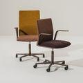 Chaise de bureau contemporaine / pivotante / tapissée / à hauteur réglable