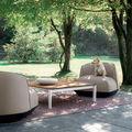Pouf design original / en Sunbrella® / en tissu déperlant / tapissé