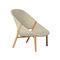 fauteuil contemporain / en Tricord® / en teck / avec dossier haut